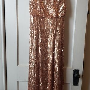 Donna Morgan, gold sequin Courtney Dress